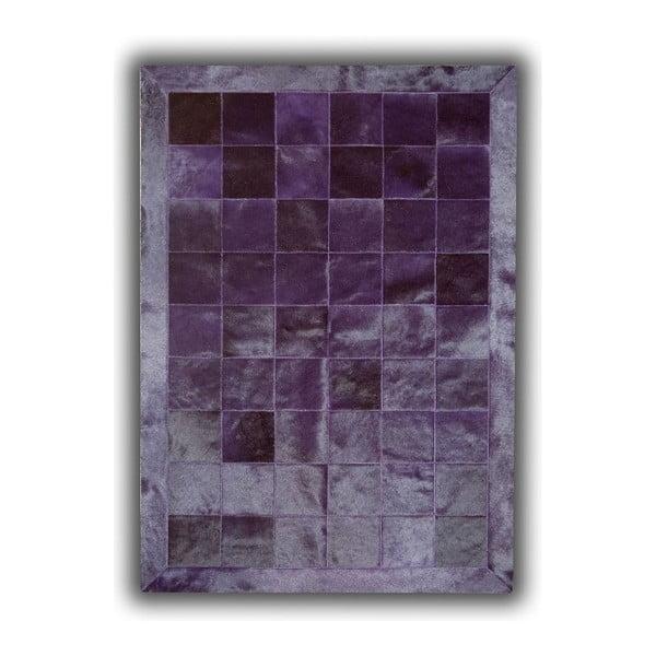 Koberec z pravé kůže Plain Violet, 140x200 cm