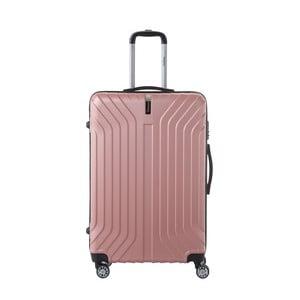 Světle růžový cestovní kufr na kolečkách SINEQUANONE Tina, 107 l