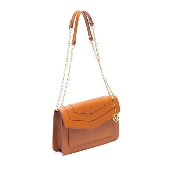 Kožená kabelka Mangotti 3013 Cognac