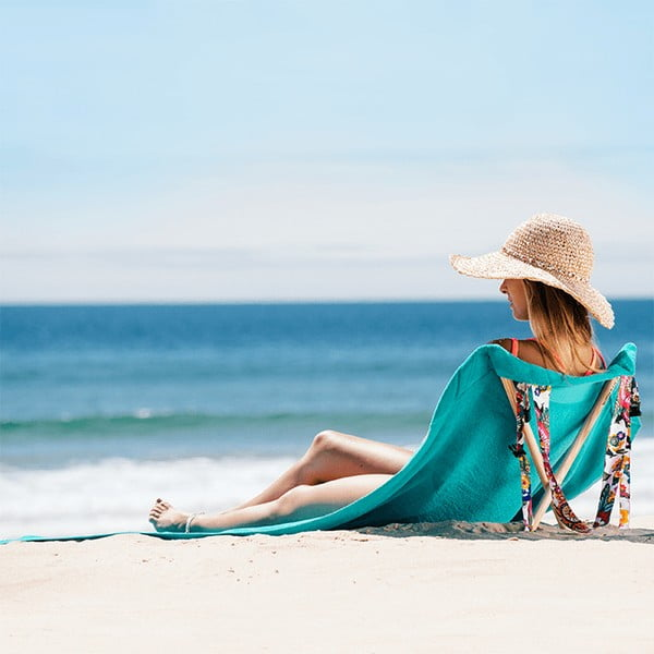 Skládací plážové lehátko a osuška v jednom Sun Seat Water Jungle