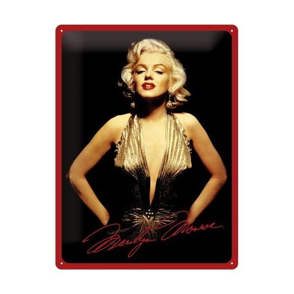 Plechová cedule Gold Marilyn, 30x40 cm