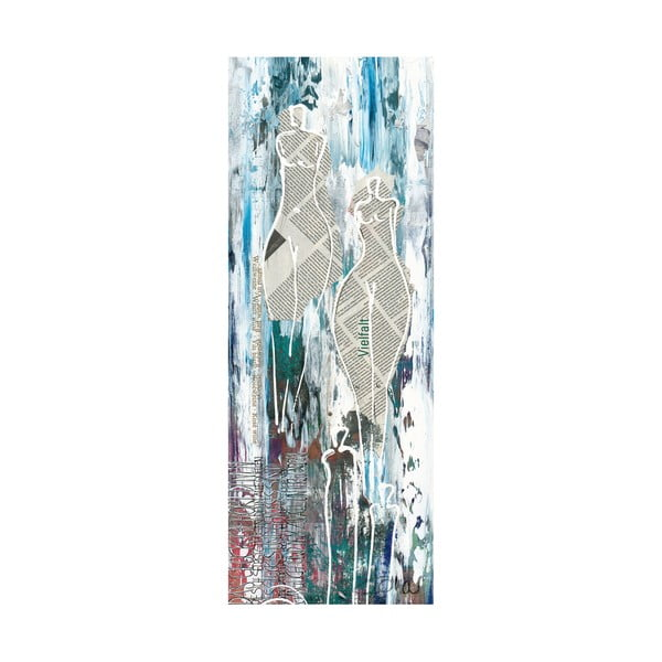 Obraz na plátně Paper Ladies 30x80 cm