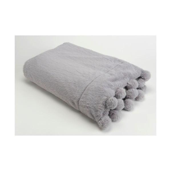 Deka Pompon Grey, 130x170 cm
