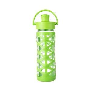 Sticlă de voiaj, din sticlă cu protecție din silicon, Lifefactory Lime Activ, 475 ml