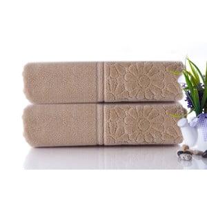 Set dvou ručníků Samba Beige, 50x90 cm