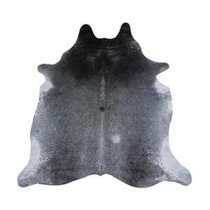 Covor din piele de vacă, 220 x 180 cm, gri