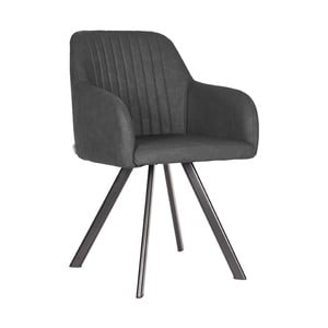 Tmavě šedá jídelní židle LABEL51 Floor
