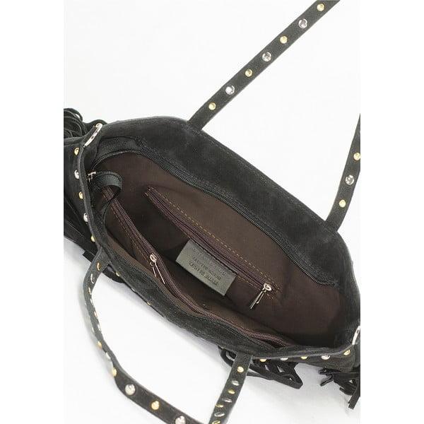 Kožená kabelka Lisa Minardi 136 Black