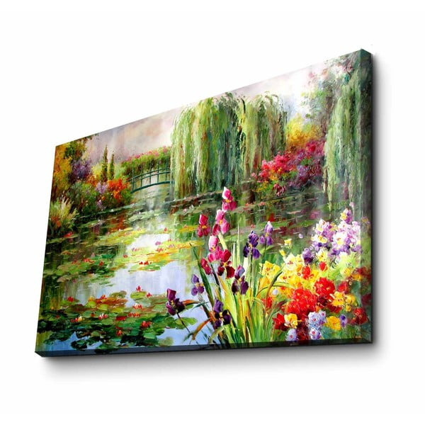 Nástenná reprodukcia na plátne Claude Monet, 70 × 45 cm