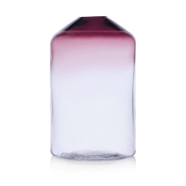 Skleněná váza Islanda Smoke/Clear, 26 cm