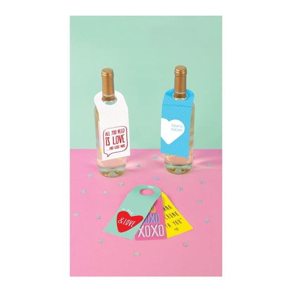 Sada 10 kartiček na víno Love Winetags