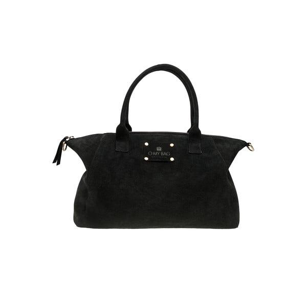 Kožená kabelka Fly Violet midi, black