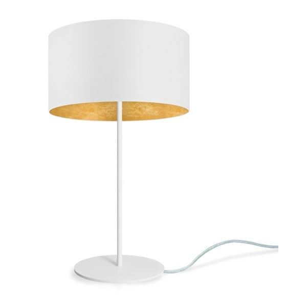 Bílo-zlatá stolní lampa Sotto Luce MIKA M 1T