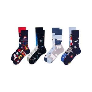 Sada 4 párů ponožek Many Mornings The Book Story, vel. 43-46