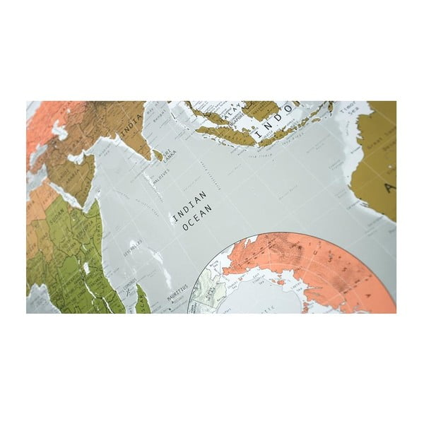 Harta lumii în husă transparentă Future Map, 101x58cm