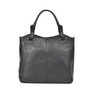 Černá kožená kabelka Luisa Vannini Tote