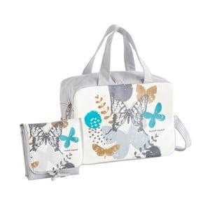 Set šedé tašky na kočárek a přebalovací podložky Naf Naf Butterfly