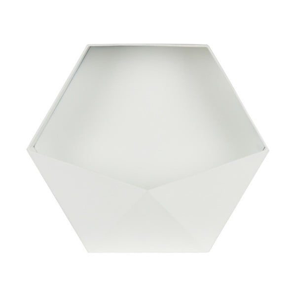 Bílá kovová nástěnná dekorace De Eekhoorn, 45 x 39 cm