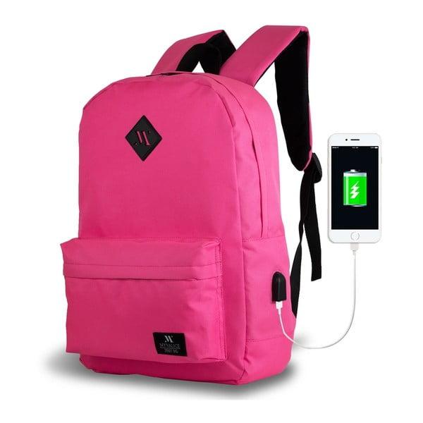 Růžový batoh s USB portem My Valice SPECTA Smart Bag