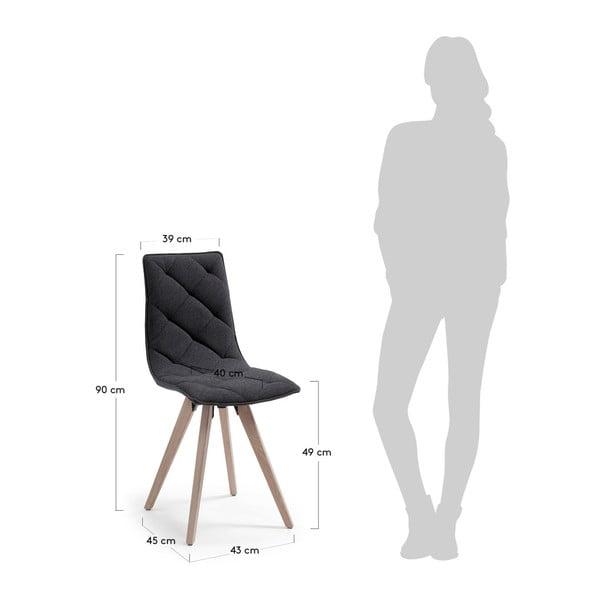 Tmavě šedá jídelní židle La Forma Tuk