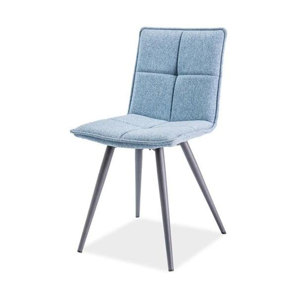 Světle modrá polstrovaná jídelní židle Signal Dario