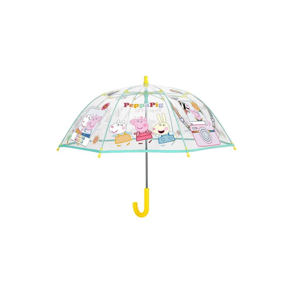 Transparentní dětský deštník odolný vůči větru Ambiance Peppa Pig, ⌀64cm