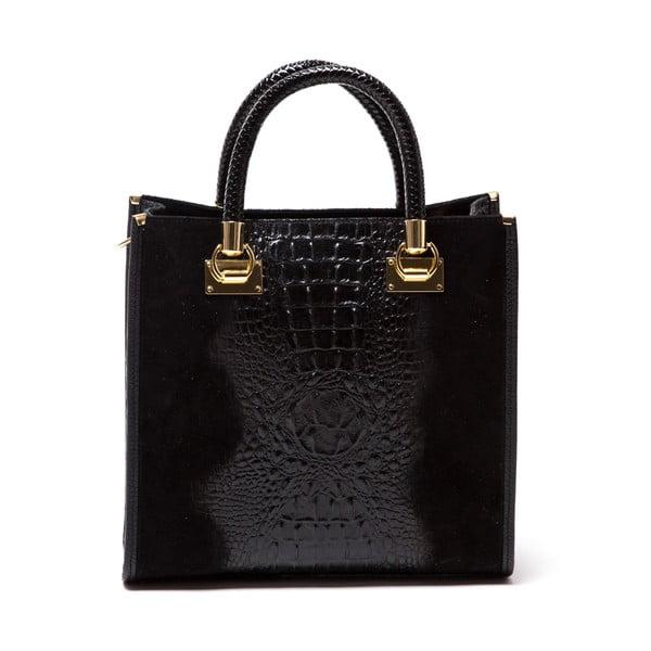 Kožená kabelka Celestina, černá