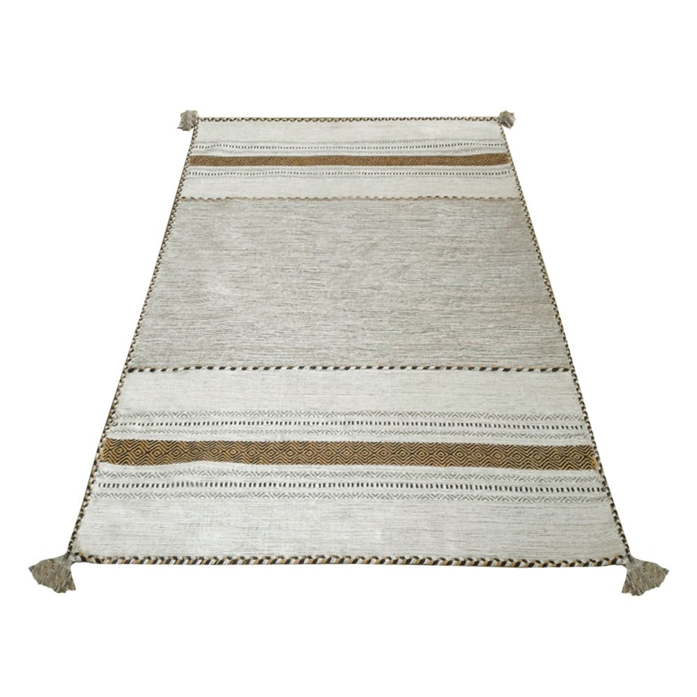 Béžový bavlněný koberec Webtappeti Antique Kilim, 160 x 230 cm