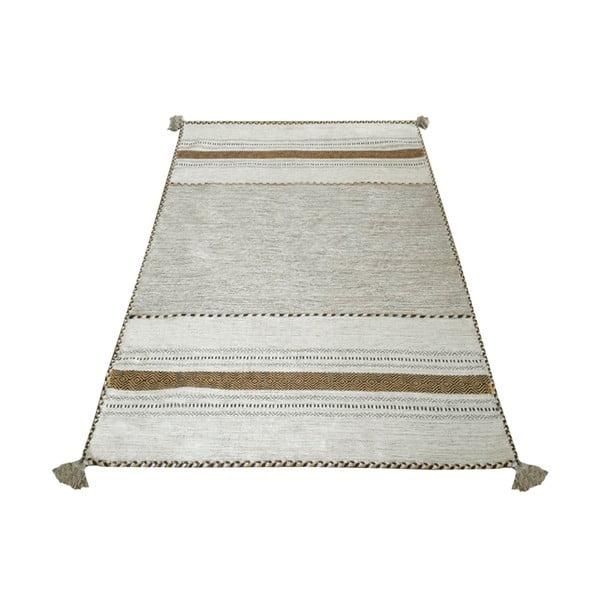 Béžový bavlněný koberec Webtappeti Antique Kilim, 120 x 180 cm