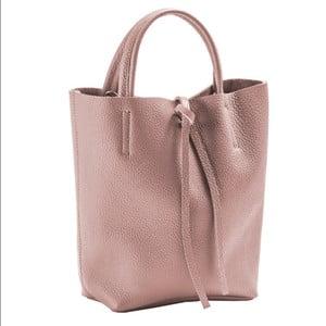 Světle růžová kabelka z pravé kůže Andrea Cardone Kuliga
