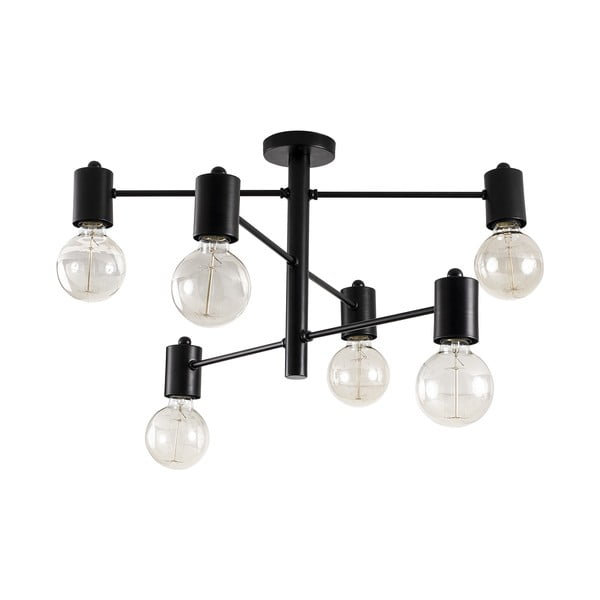 Plafonieră de 6 becuri Opviq lights Hexa, negru