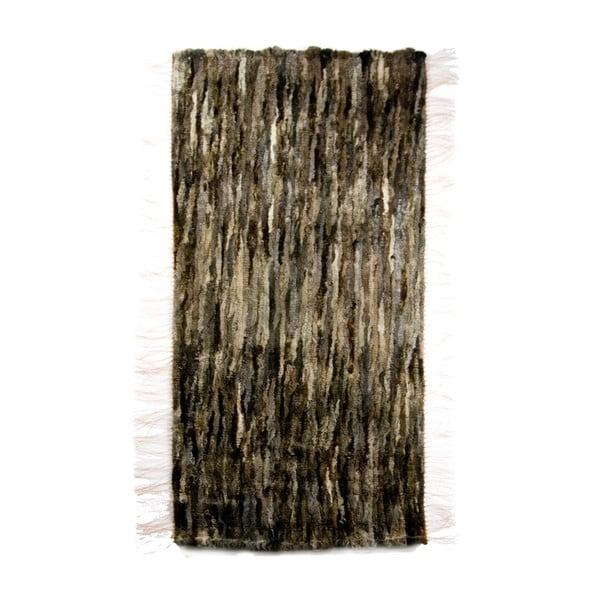 Koberec z ovčí kůže 60x160 cm, tmavý