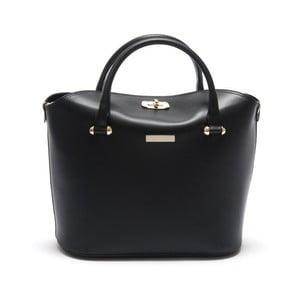 Černá kožená kabelka Isabella Rhea Equisetum