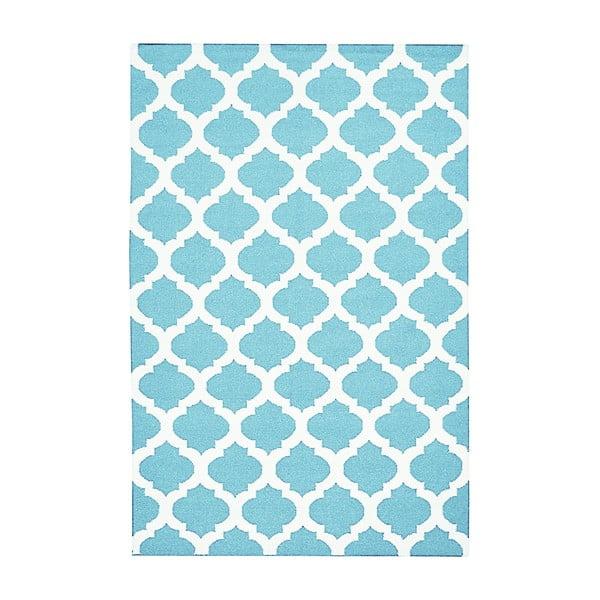 Vlněný koberec Julia Light Blue, 140x200