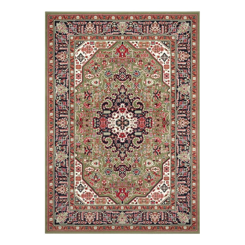 Zelený koberec Nouristan Skazar Isfahan, 80 x 150 cm