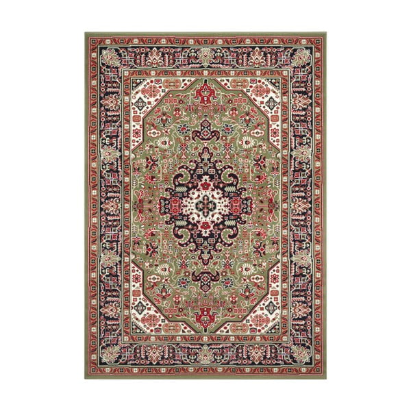 Zielony dywan Nouristan Skazar Isfahan, 80x150 cm