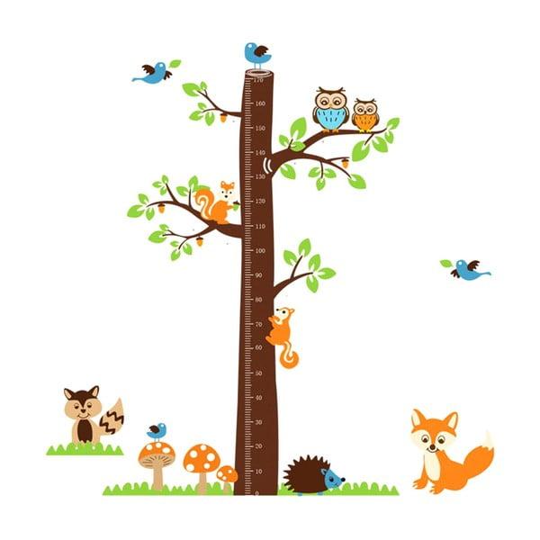 Dekorativní samolepka Tree & Little Owls, 185x182 cm