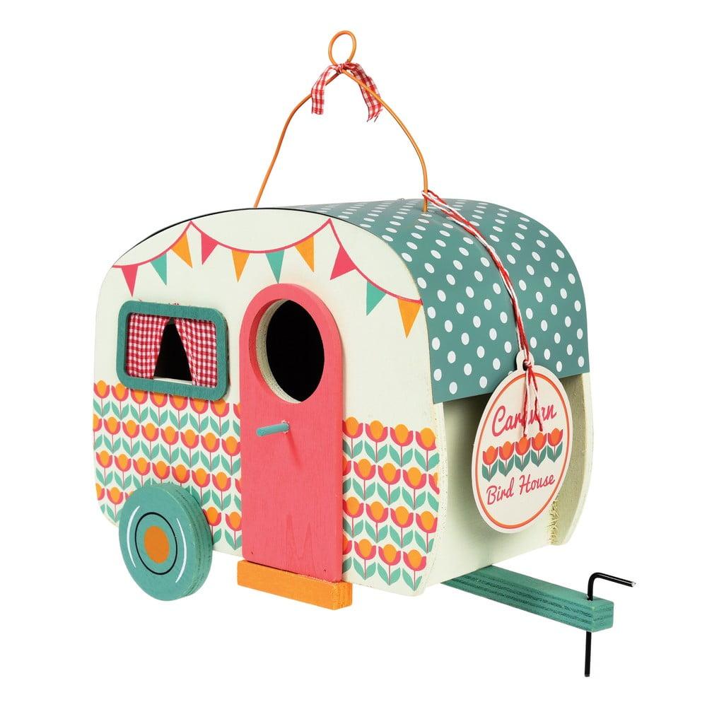 Dřevěná ptačí budka ve tvaru karavanu Rex London Frank Rex London