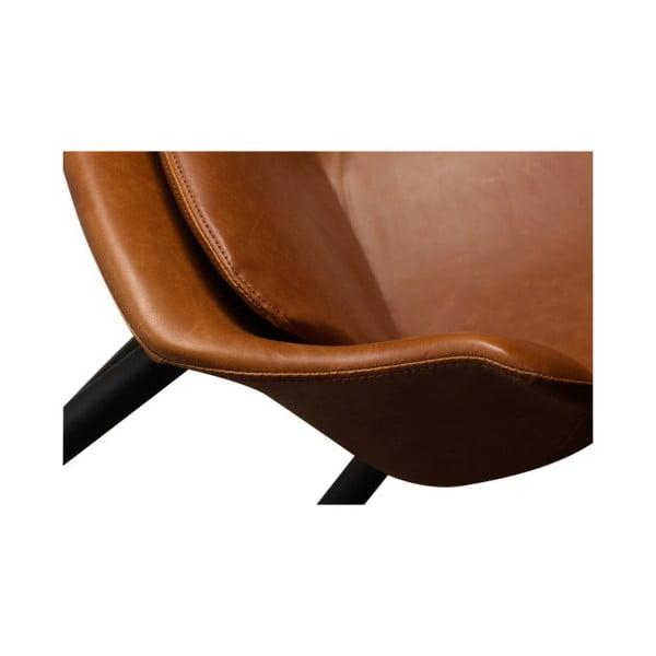 Hnědá jídelní židle s područkami DAN–FORM Combino