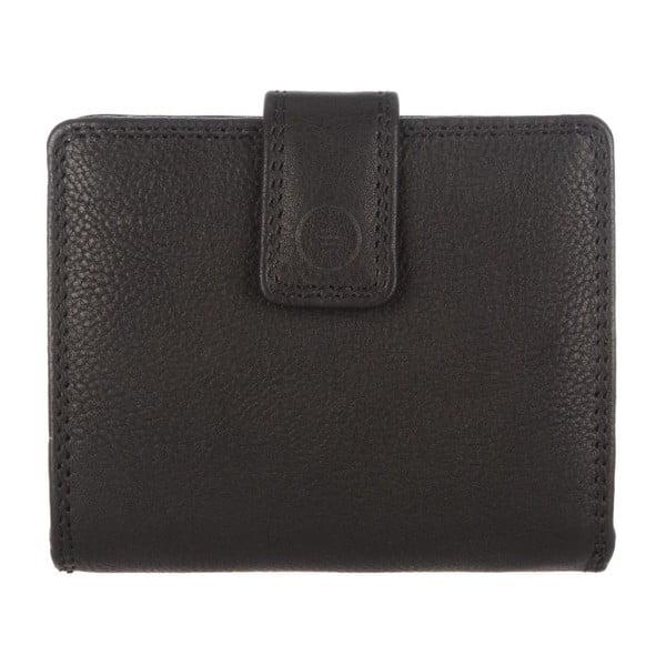 Kožená peněženka Caris Black