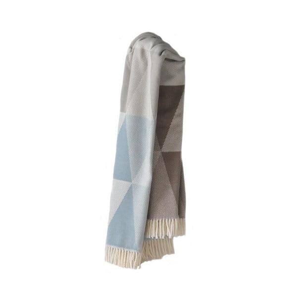 Niebieski koc z dodatkiem bawełny Euromant Pisa, 140x180cm
