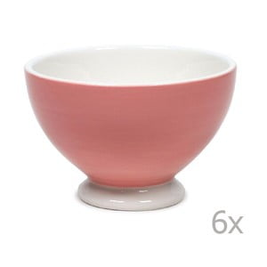 Sada 6 misek Puck 14.5 cm, růžová