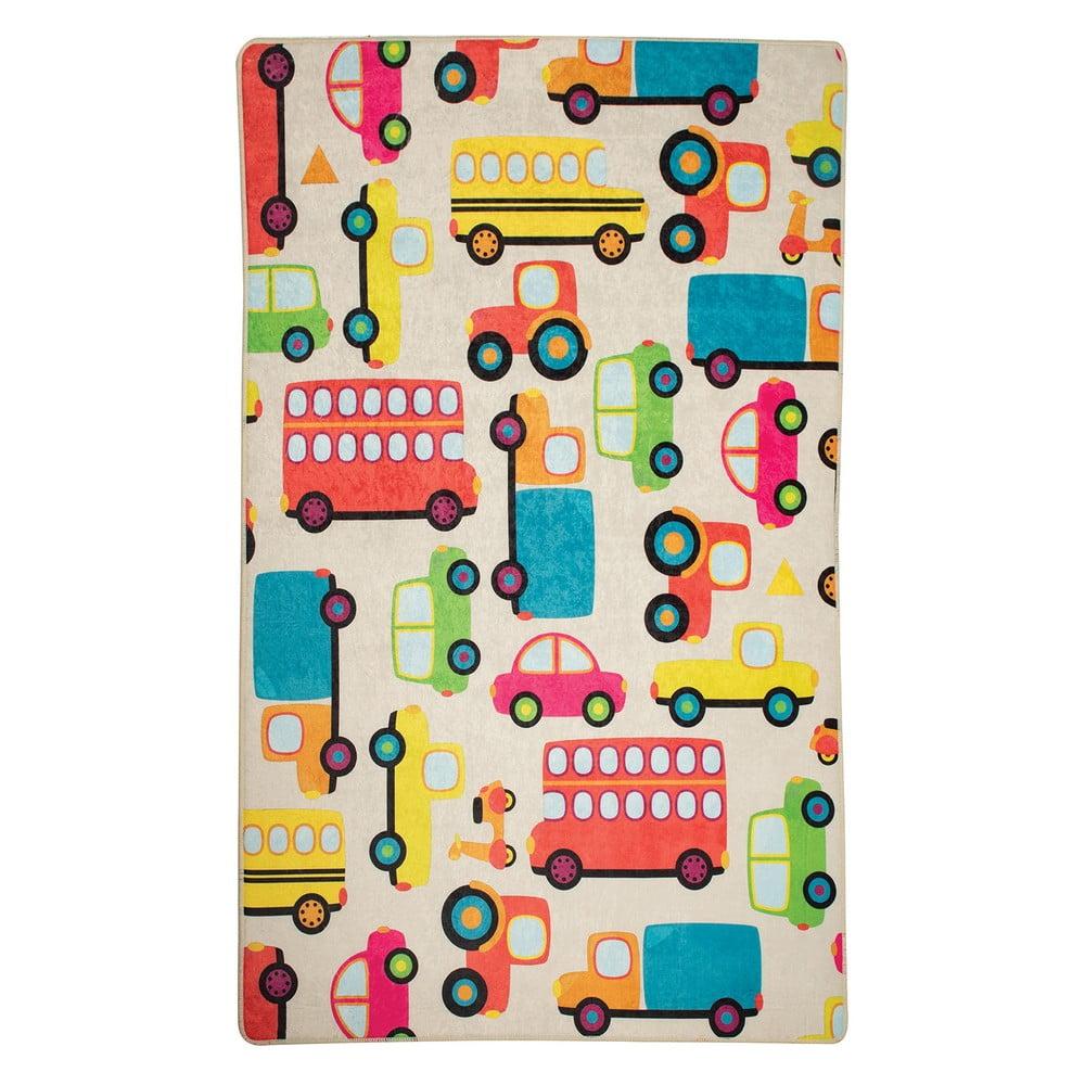 Dětský protiskluzový koberec Chilai Cars,140x190 cm