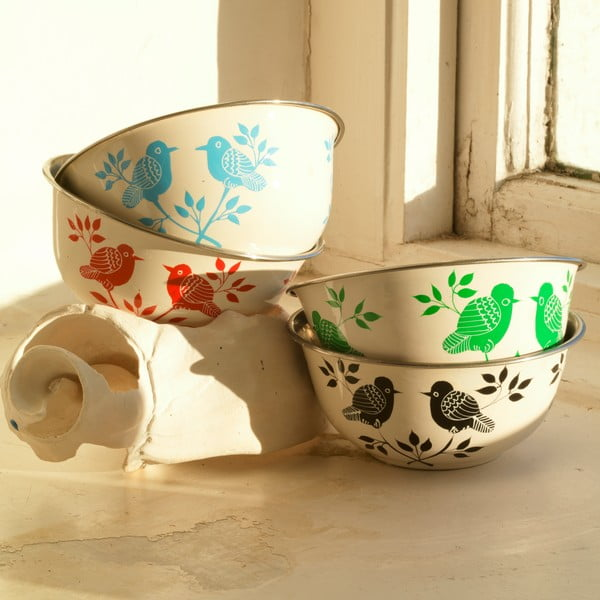Miska Lolita Hand Painted Bowl, červená