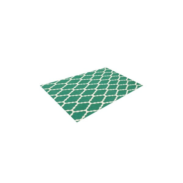 Vlněný koberec Kilim Venus Green, 155x240 cm