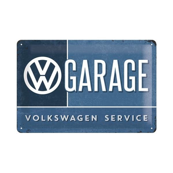 Plechová cedule VW Garage, 20x30 cm