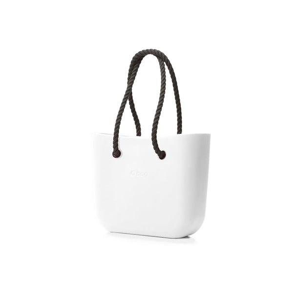 Taška O bag s černými uchy, bílá