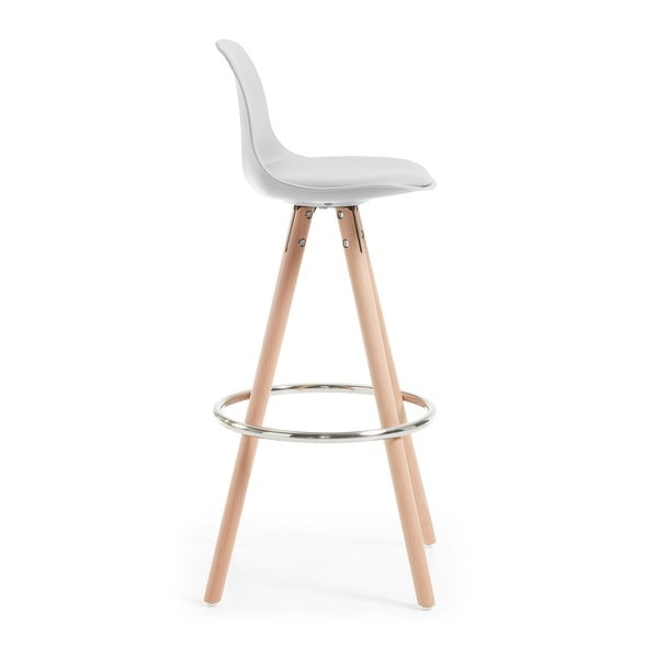Sada 2 světle šedých barových židlí La Forma Stag