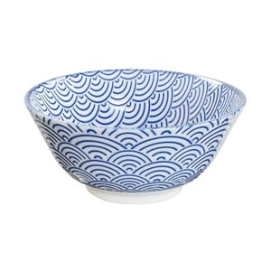 Modrá porcelánová miska Tokyo Design Studio Wave, ⌀15,2cm