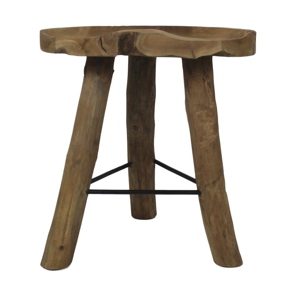 Stolička z teakového dřeva HSM Collection Tractor, ⌀ 45 cm